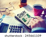 businessman with note and... | Shutterstock . vector #245661109