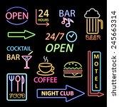 neon icon set   Shutterstock . vector #245663314