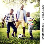 african family happiness... | Shutterstock . vector #245663329