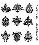 damask floral ornamental... | Shutterstock .eps vector #245665249
