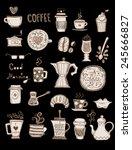 coffee doodles   Shutterstock .eps vector #245666827