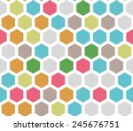 seamless colorful honeycomb... | Shutterstock . vector #245676751