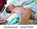 cleaning umbilical in a newborn ... | Shutterstock . vector #245679589