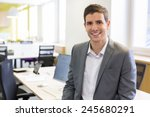 portrait of businessman in... | Shutterstock . vector #245680291