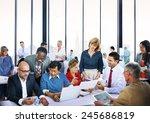 business people talking... | Shutterstock . vector #245686819