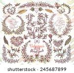 valentines day hand drawn... | Shutterstock .eps vector #245687899