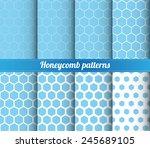 Set Of 8 Honeycomb Patterns...