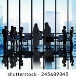 middle eastern business people... | Shutterstock . vector #245689345