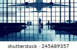 pilot airport terminal waiting... | Shutterstock . vector #245689357