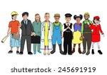multiethnic group of people...   Shutterstock . vector #245691919