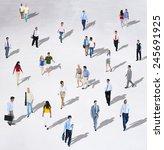 diverse diversity ethnic... | Shutterstock . vector #245691925
