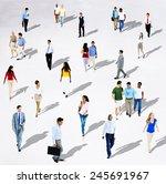 diverse diversity ethnic...   Shutterstock . vector #245691967