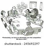 the business team has an...   Shutterstock . vector #245692297