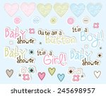 baby shower  | Shutterstock .eps vector #245698957