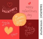 happy valentines day hand... | Shutterstock .eps vector #245698981