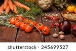fresh vegetables | Shutterstock . vector #245699527