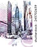american street | Shutterstock .eps vector #245702659