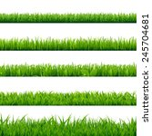 grass big set  vector... | Shutterstock .eps vector #245704681