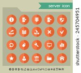 server icons on bright orange... | Shutterstock .eps vector #245704951