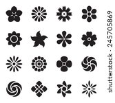 flower icons. vector... | Shutterstock .eps vector #245705869