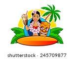 cartoon vector illustration of... | Shutterstock .eps vector #245709877