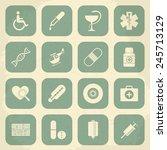 retro medical icons. vector...   Shutterstock .eps vector #245713129
