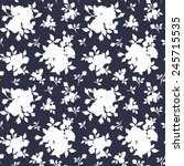 seamless white floral pattern... | Shutterstock .eps vector #245715535