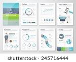 flat design brochures and... | Shutterstock .eps vector #245716444