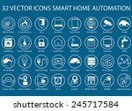 customizable vector icons for... | Shutterstock .eps vector #245717584