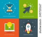 website promotion banners...   Shutterstock .eps vector #245720167