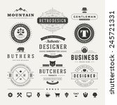 retro vintage insignias or... | Shutterstock .eps vector #245721331