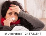 Flu. Closeup Image Of...