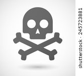 skull   icon with shadow on... | Shutterstock .eps vector #245723881