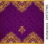 vector ornate border in eastern ... | Shutterstock .eps vector #245727481
