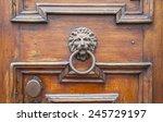 Italian Door Knocker  Lion