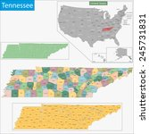 map of tennessee state designed ... | Shutterstock . vector #245731831