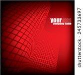 red technology background   Shutterstock .eps vector #245733697