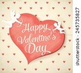 happy valentine's day | Shutterstock .eps vector #245735827