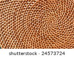 Straw place mat - stock photo