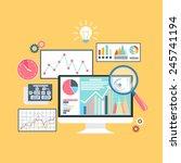 price movement. stock exchange... | Shutterstock .eps vector #245741194