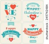 happy valentine's day vector... | Shutterstock .eps vector #245742484