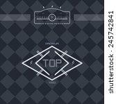 modern retro insignia | Shutterstock .eps vector #245742841