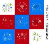 medicine sticker infographic | Shutterstock .eps vector #245744011