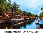 Canals Of Amsterdam At Night....