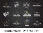 set of vector coffee elements... | Shutterstock .eps vector #245751244