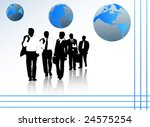 illustration of business people | Shutterstock .eps vector #24575254