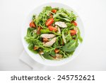 fresh salad with chicken ... | Shutterstock . vector #245752621