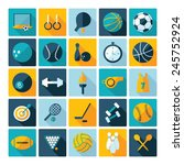 flat concept  design with... | Shutterstock .eps vector #245752924