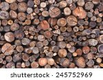 Logs Of Wood Stacked  Wood...