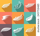 abstract feather angel or bird... | Shutterstock .eps vector #245753485